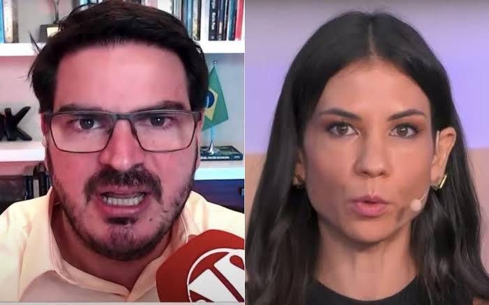 PANCADA: Rodrigo Constantino deixa Amanda Klein sem resposta ao dizer que o Brasil é o 4º país que mais distribuiu vacinas, e critica incoerência da comentarista; VEJA VÍDEO
