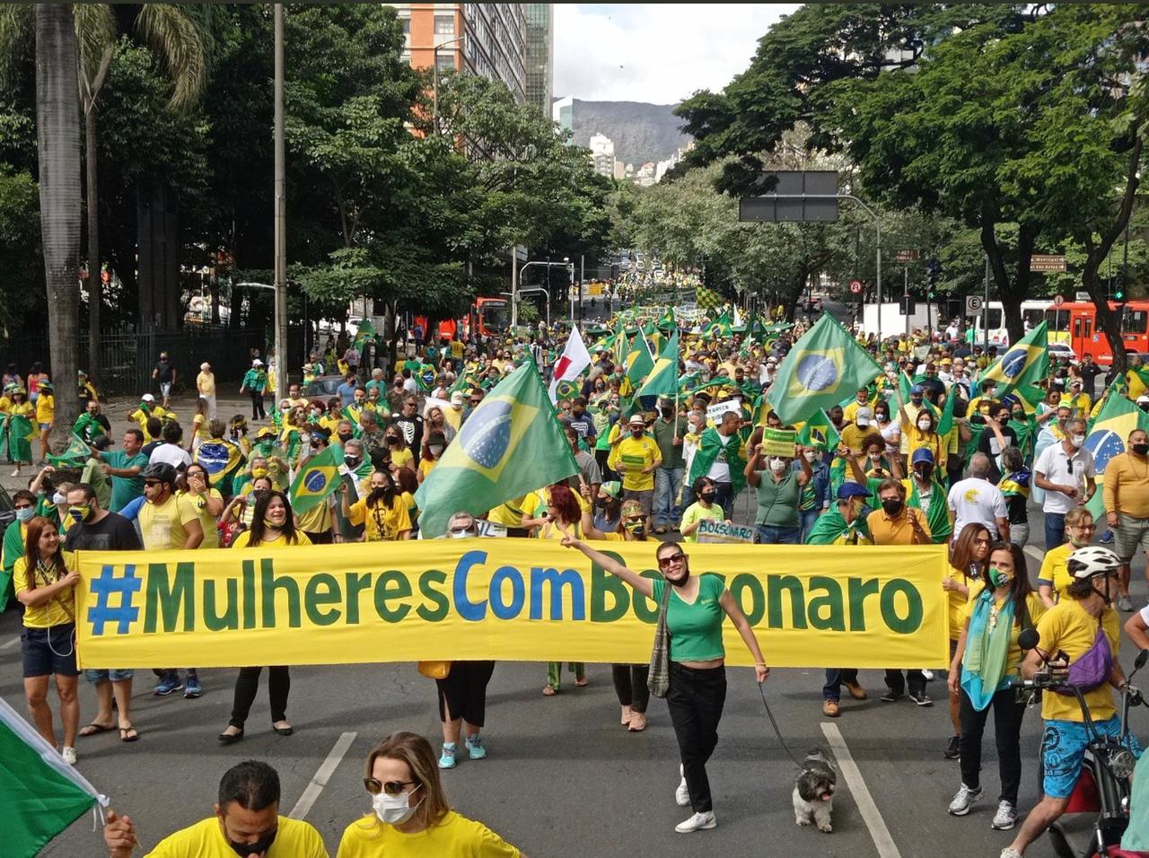 Mineiros vão às ruas em apoio ao Presidente Bolsonaro. VEJA VÍDEO