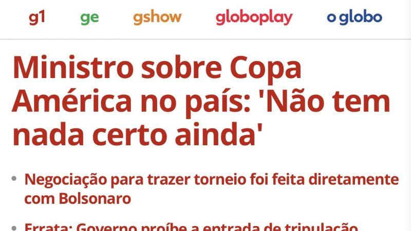 "Grupo Globo posta ""fake news"" contra governo Bolsonaro"