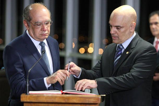 Presidentes de partidos se reúnem com Alexandre de Moraes e Gilmar Mendes contra voto impresso auditável