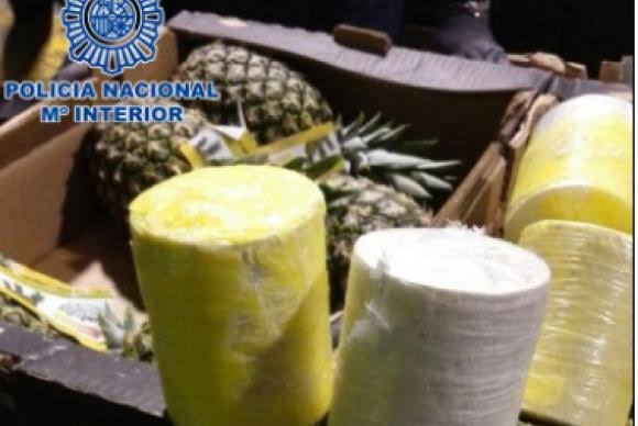 Espanha apreende 800 quilos de cocaína em abacaxis do Brasil