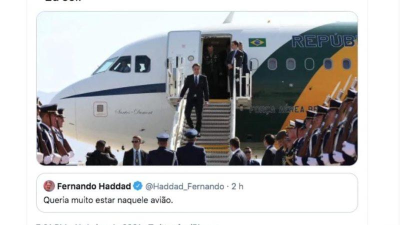 Bolsonaro ironiza Haddad no Twitter
