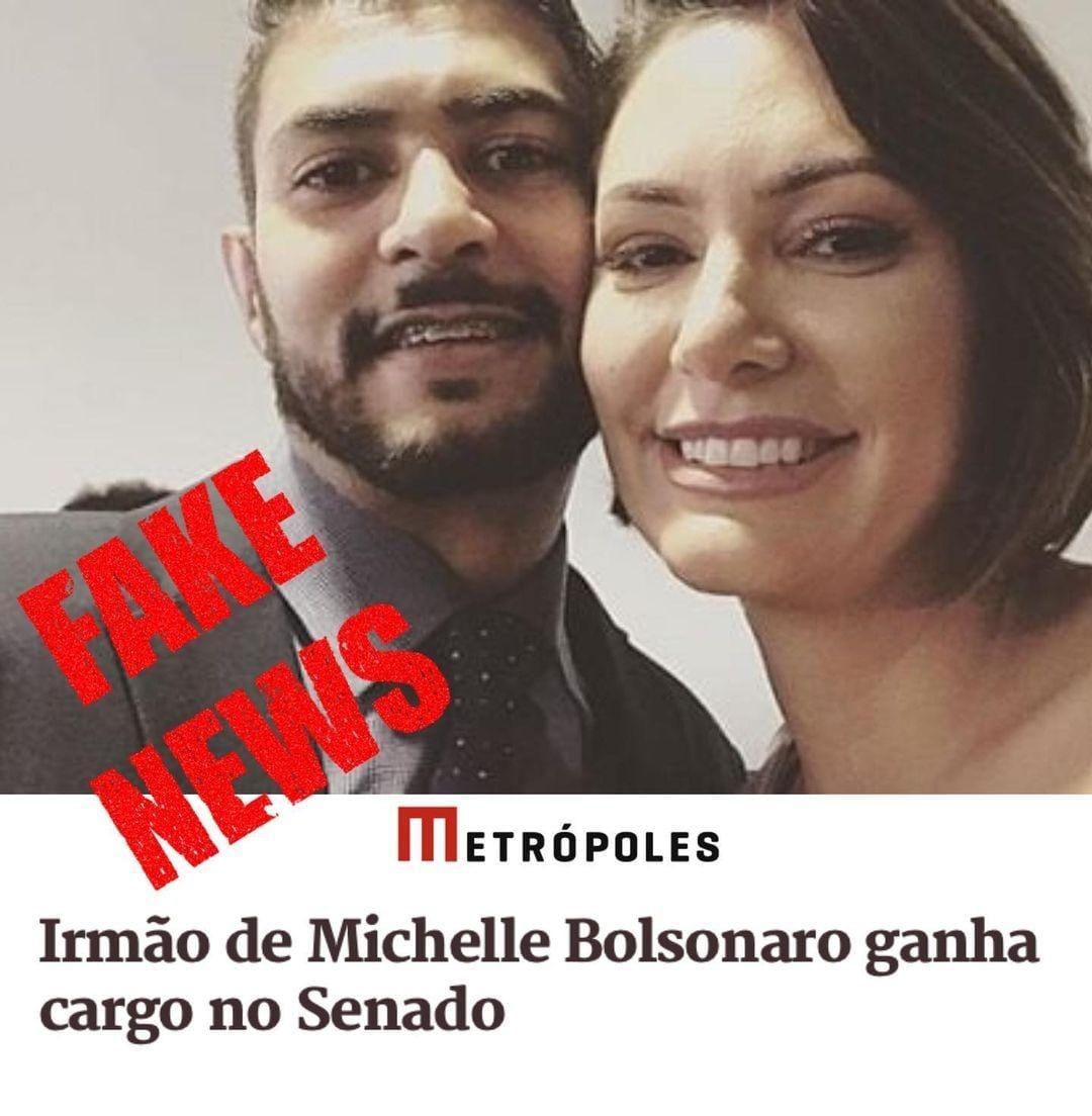 Mais uma Fake News para tentar atingir a família do presidente Bolsonaro