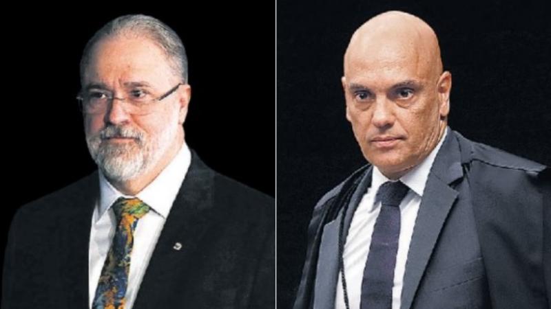 O clima está tenso entre o PGR Augusto Aras e o Ministro Alexandre de Moraes