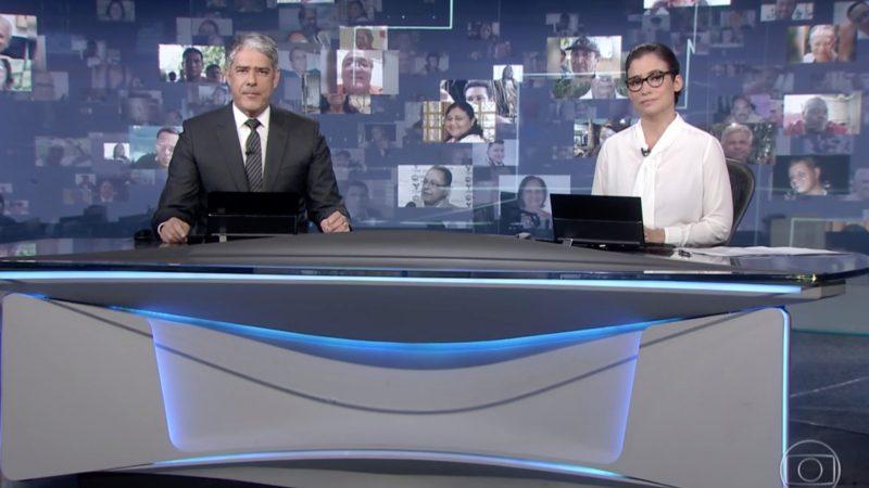 Perseguição: Jornal Nacional dedica 5 minutos e 35 segundos para exibir atos contra Bolsonaro