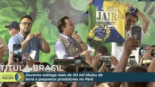MPE quer aplicar multa porque Bolsonaro exibiu camisa com alusão a 2022
