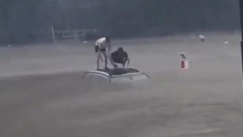 Emocionante: Veja o resgate de uma família na China, pegos de surpresa por enchente; VEJA VÍDEO