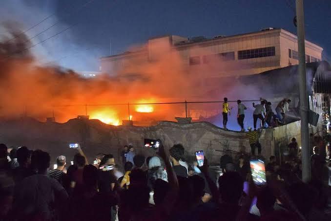 Tragédia: Incêndio em hospital de Covid-19 no Iraque deixa 92 mortos