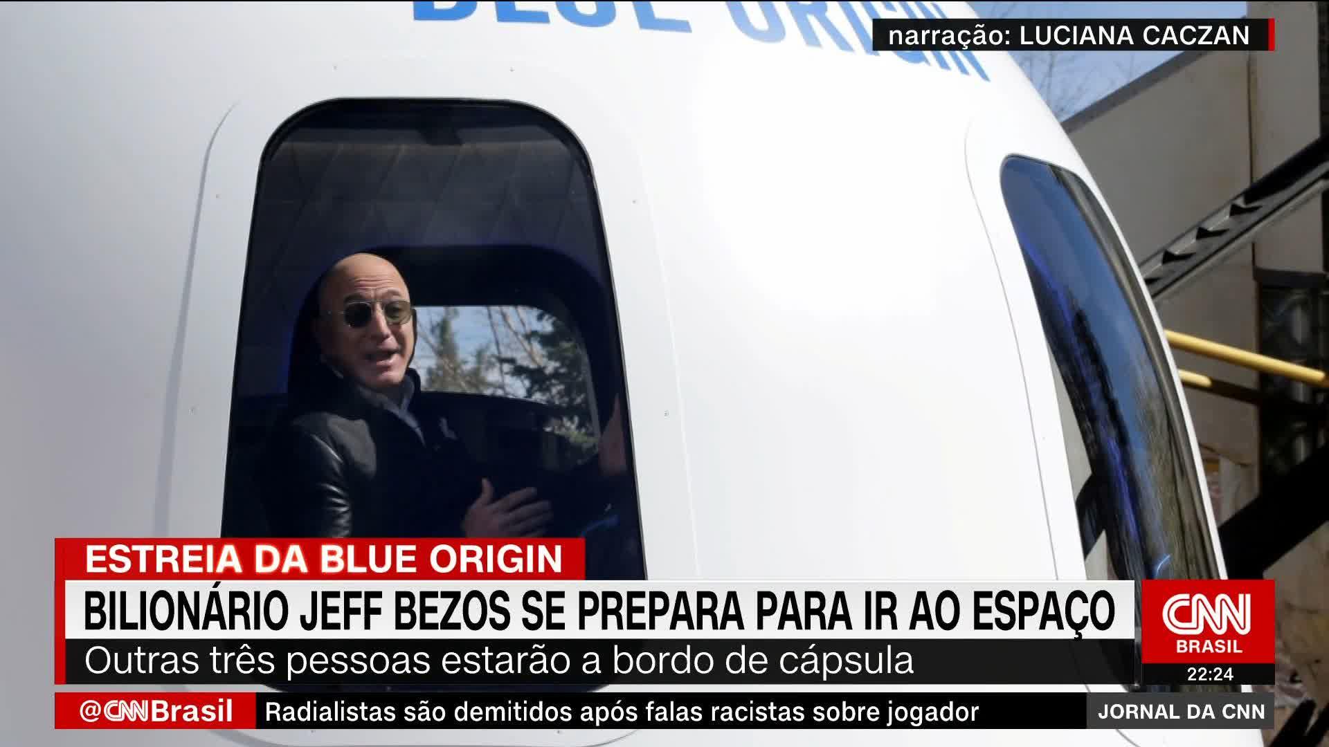 Jeff Bezos irá ao espaço hoje; veja como assistir