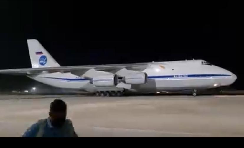 ESTRANHO: Após protestos em Cuba, avião Russo An-124 com 88 toneladas pousa em Havana; VEJA VÍDEO