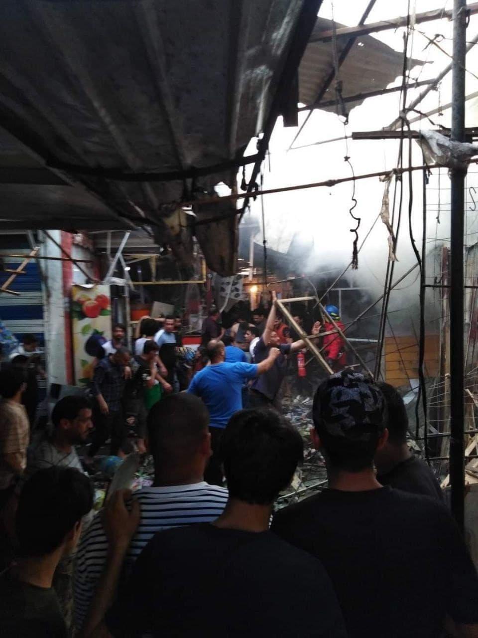 URGENTE: GRANDE EXPLOSÃO EM MERCADO DE BAGDÁ DEIXA VÁRIOS MORTOS E FERIDOS, VEJA IMAGENS