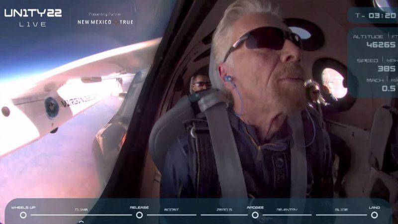 Bilionário Richard Branson decola para o espaço em nave da Virgin Galactic, VEJA VÍDEO