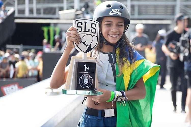 Rayssa Leal vira na última manobra e é campeã da Liga Mundial de Skate Street