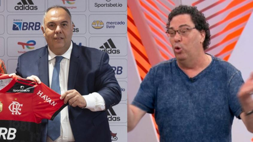 Marcos Braz critica fala de Casagrande sobre David Luiz no Flamengo: 'Desserviço para o futebol'