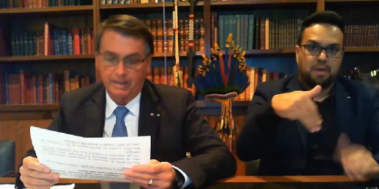 Bolsonaro reage a inquérito aberto por Moraes: 'Querem intimidar quem? A justiça é para todos'