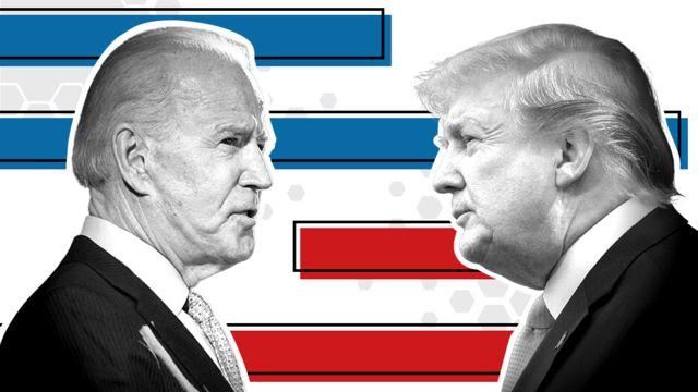 Pesquisa aponta vantagem de Trump sobre Biden para 2024