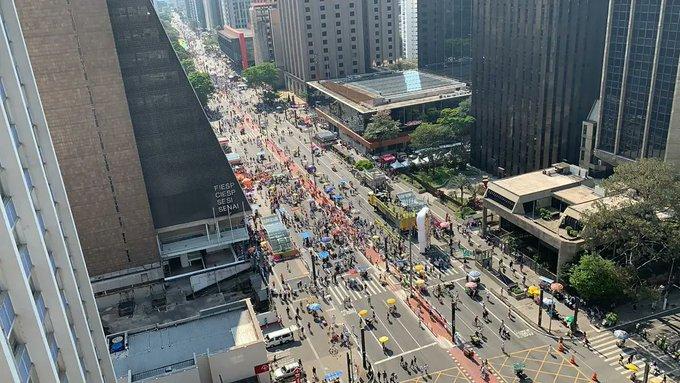 VEXAME: Av. Paulista segue pouco movimentada com protestos contra Bolsonaro, VEJA VÍDEO