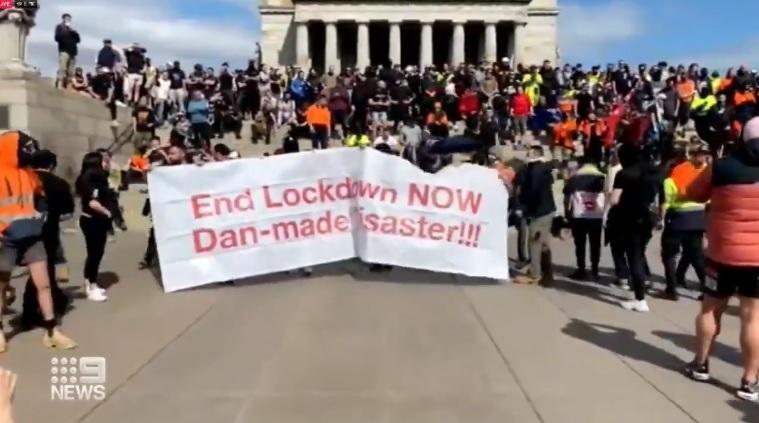 Austrália tem protesto contra lockdown e vacinação obrigatória