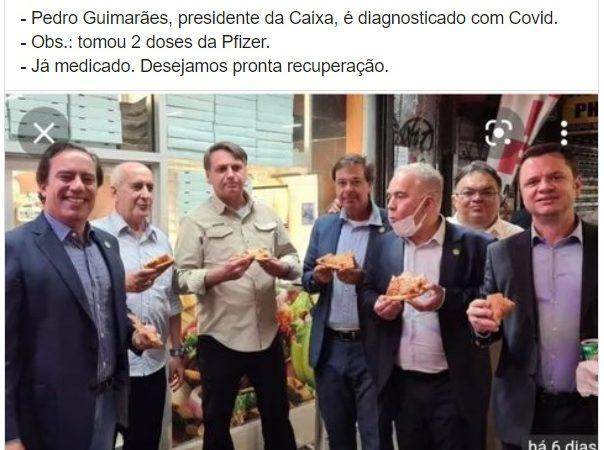 Pedro Guimarães, presidente da Caixa, tomou duas doses da Pfizer mas testou positivo para COVID-19