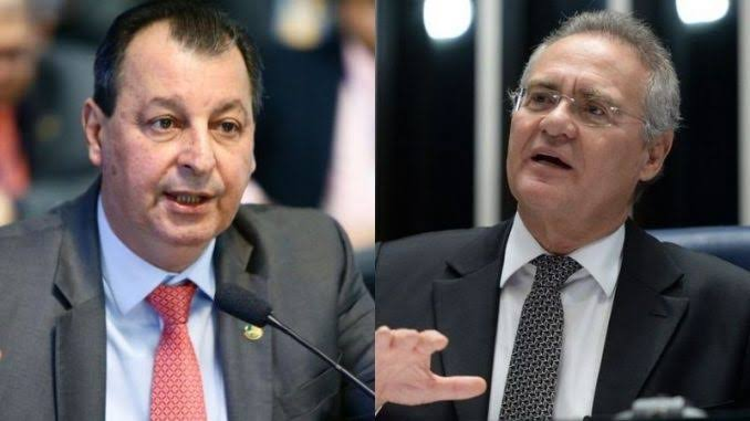 """Batendo cabeça: """"Renan, vamos acabar com essa CPI, já deu o que tinha que dar"""" disse Omar Aziz, mas Renan tá achando bom e quer mais"""