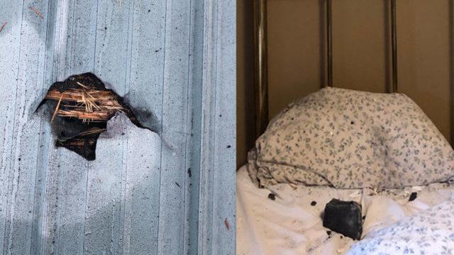 Mulher quase é atingida por meteorito enquanto dormia: 'Assustada'